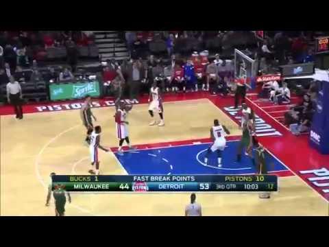 Milwaukee Bucks vs Detroit Pistons   Full Highlights   Nov 7, 2014   NBA 2014 15 Season