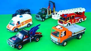 Construction Vehicles Toy Dump Truck, Fire Trucks, Police Car & Street Cars Toys Play for Kids