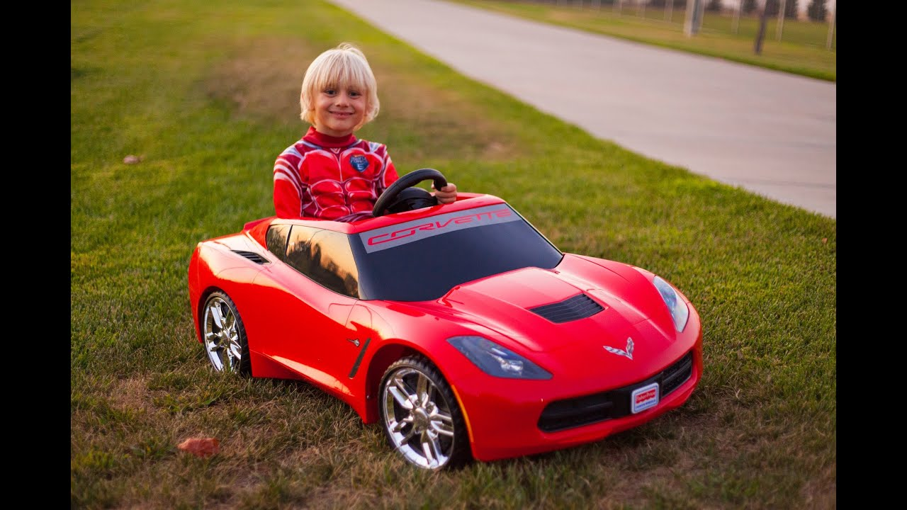 Lamborghini Electric Car For Kids >> Unboxing The New Power Wheels 2014 Corvette Stingray ...