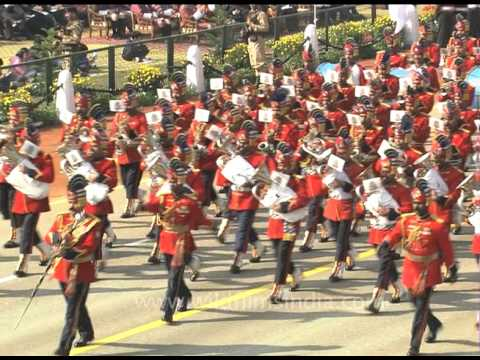 Impressive march-past by Indian Armies and Bands at the Republic Day Parade, Delhi