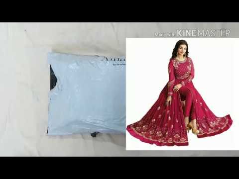 Unboxing anarkali salwar suit from Amazon | salwar ke design | shalwar style | सूट सलवार | churidar