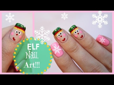 Christmas Nail Art- Elf Design