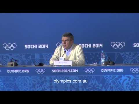 IOC President Thomas Bach Press Conference