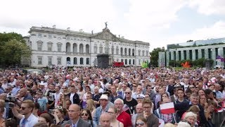 FANTASTIC & POWERFUL: President Donald Trump Speaks to the People of Poland & They LOVE Him!