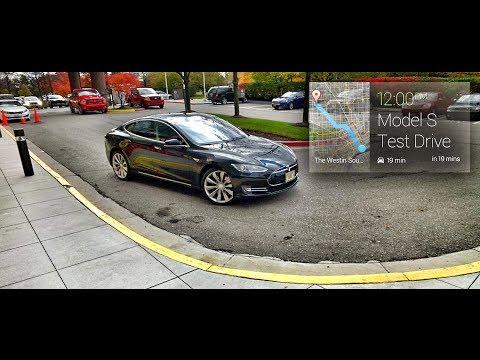 Driving a Tesla Model S [through Google Glass]