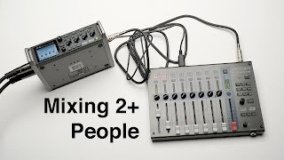 Mixing Sound for 2 People While Recording