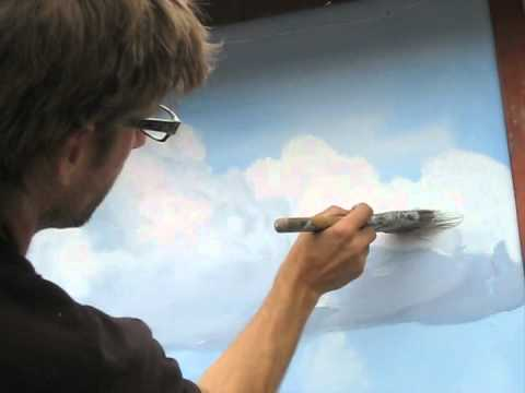 How to paint clouds technique - Mural Joe