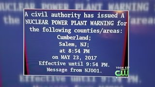 'Nuclear Power Plant Warning' Sent Out In Error In Parts Of South Jersey