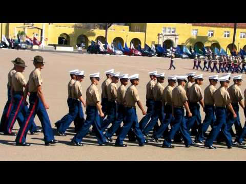 Matthew Marines on Parade Grounds Graduation in San Diego