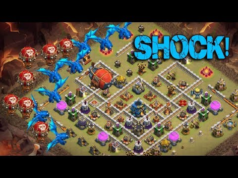 Max Electro Dragon Max Balloon On Fire   New Air Army 3 Star War Attack TH12   Clash Of Clans war