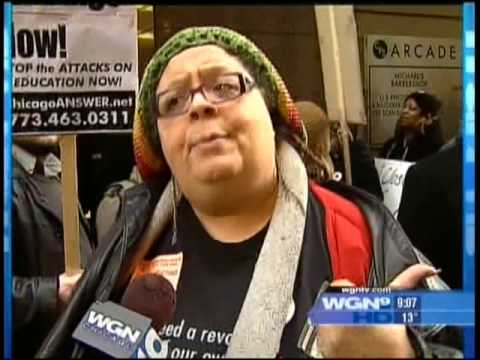 Grassroots Education Movement (GEM) stormed the January 2009 Chicago Board of Education meeting. Their demand was to stop the privatization of Chicago's scho...