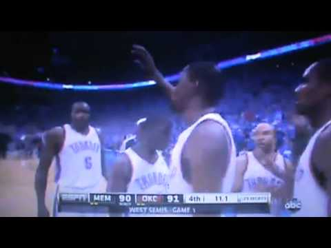 Memphis Grizzlies Vs Oklahoma City Thunder - Full 4th Quarter Part 4 Game 1 NBA Playoffs 2013 5/5/13