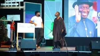 Hillarious!!! Yaw and Okey Bakassi live on stage