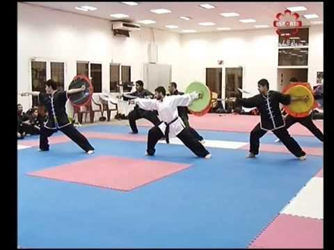 Part 3: Sword-Shield & Modern Taolu - Kuwait Sports Channel Martial Arts Special w/ Sifu Khader Deng