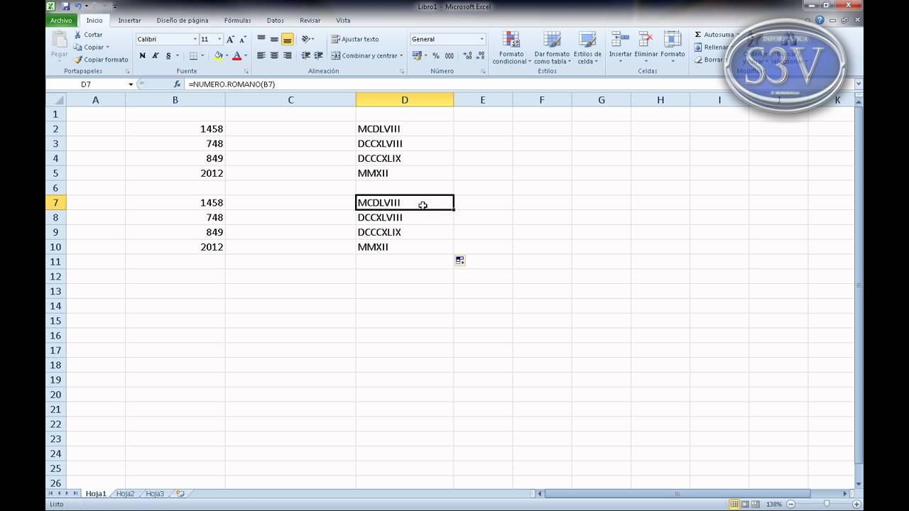 Excel 2010 - Números romanos - YouTube