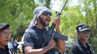 """Micah X Johnson's Dallas New Black Panthers Chant """"Oink Oink"""" 8-12-15-Black Panthers"""