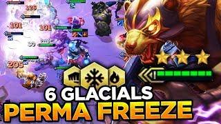 6 GLACIALS PERMA FREEZE! I HIT TOP 30 NA! | Teamfight Tactics