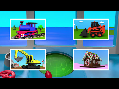 Boats and ships for children. Tugboat. Construction game. Educational videos cartoons for toddlers