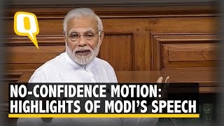 Key Takeaways From PM Modi's Lok Sabha Speech on No-Confidence Motion | The Quint