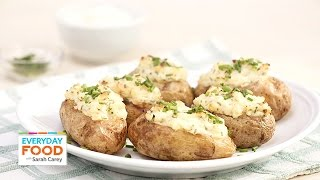 Twice-Baked Sour Cream and Chive Potatoes - Everyday Food with Sarah Carey
