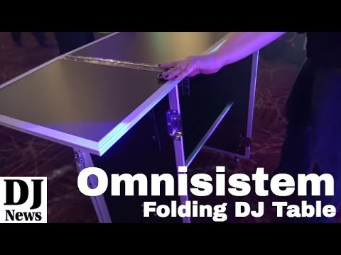 #Omnnisistem Folding Portable DJ Table Booth | Disc Jockey News