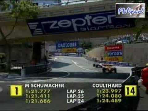 F1 Enrique Bernoldi vs David Coulthard GP Monaco 2001