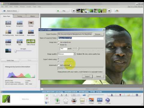 how to use Picasa to compress pictures for your bl…