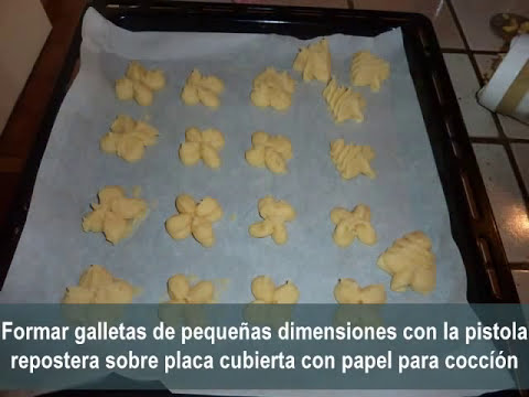 Galletas de mantequilla decoradas (masas secas o petits fours secs)
