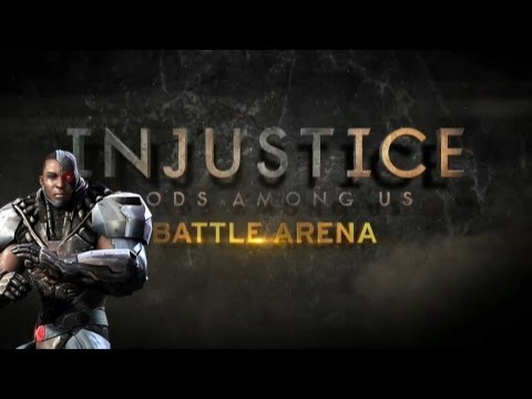 Injustice: Gods Among Us - Injustice Battle Arena: Fight 3 Green Lantern, Grundy, AquaMan and Cyborg