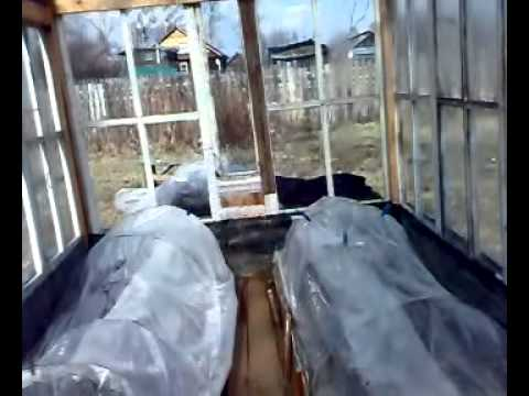 Как сделать парник в теплице!.avi