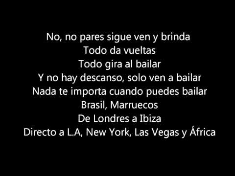 Jennifer Lopez Ft. Pitbull - Ven A Bailar (on The Floor Spanish Version) Lyrics video