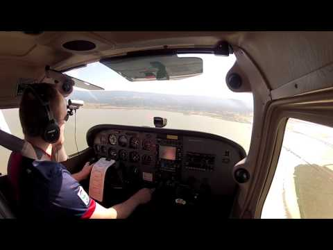 Landing at Palo Alto with live ATC comms
