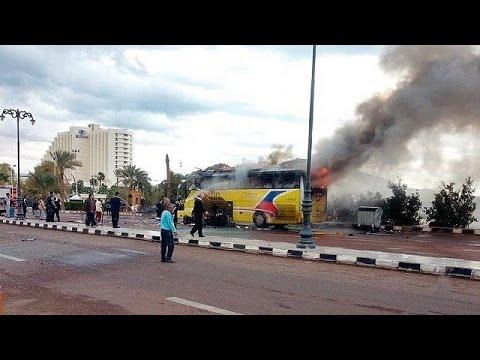 انفجار اتوبوس گردشگران در نزدیکی مرز مصر با اسرائیل