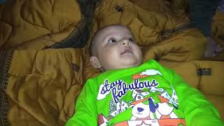 6 month old baby laughing !! Funny n cutest baby !! Baby playing with daddy !! Haste haste baby