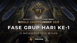 Live Now: Kejuaraan Dunia MLBB 2019 Hari ke-1 Group Stage A