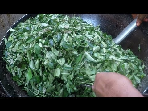 Karivepaku Podi - Curry Leaf Powder In Andhra Style | For Rice And Breakfast