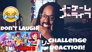 IM NOT LAUGHING...YOU'RE LAUGHING! |TRY NOT TO LAUGH| NO GAME NO LIFE IN 7 MINUETS REACTION
