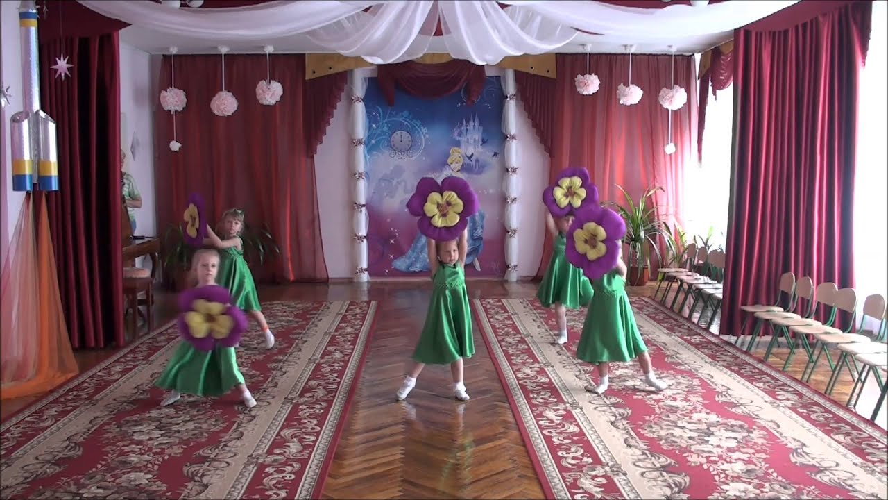 Танец цветов в детском саду фото