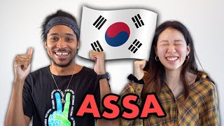 My Husband Tries Korean Game For First Time!