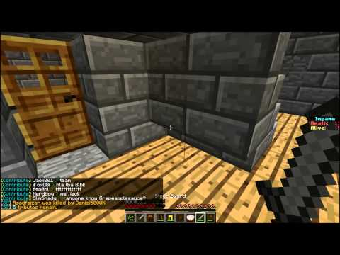 Minecraft PC - HungerGames in a Cracked Server 1.7.10!!!
