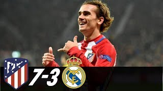 Atletico Madrid Vs Real Madrid 7-3 - All Goals And Highlight MasterLeague
