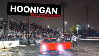 BREAKING THE NEW FERRARI IN AT HOONIGANS BURNYARD! *TIRE SLAYER 3.0*