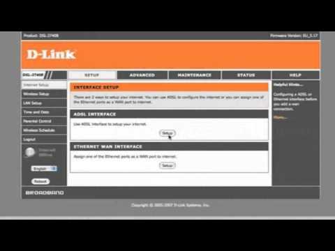 Compilation of D-Link DSL-2740 setup videos