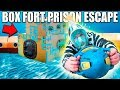 24 HOUR BOX FORT PRISON ESCAPE ROOM UNDERWATER!! 📦🚔 Underwater Box Fort Building & More!