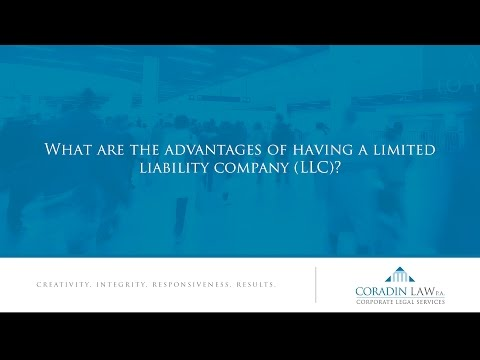 What are the advantages of having a limited liability company (LLC)?