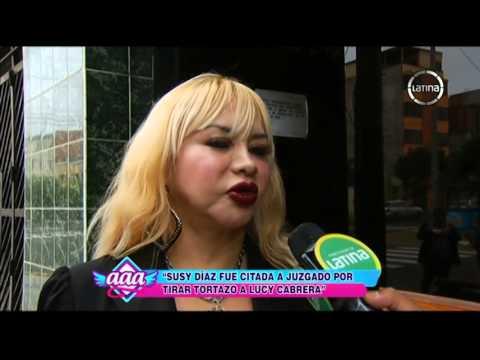 Susy Díaz fue citada a juzgado por el 'tortazo' a Lucy Cabrera