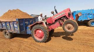 Mahindra 365 tractor best performance in loaded trolley