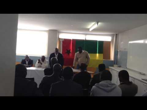 Discurso para votación de de nuevo presidente de Asociación de Guinea Bissau en Catalunya