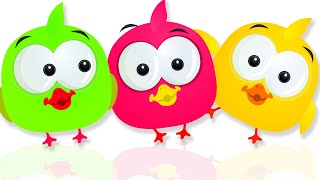 Cute Ducks and their Colored Funny Air Pumping Machine | Fun Cartoon Series for Kids by KidsCamp