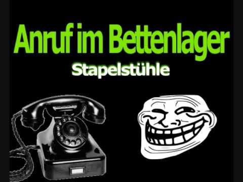 Telefonscherz - Stapelstühle / Anruf im Bettenlager